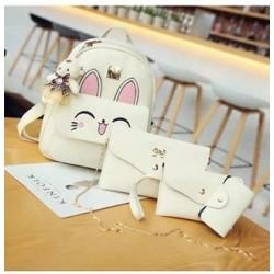 Set rucsac Kitty White