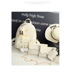 Set rucsac White Bunny