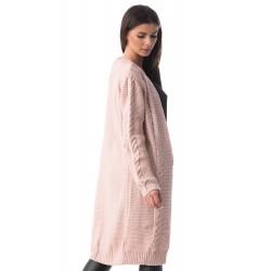 Cardigan lung tricotat