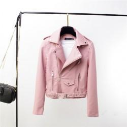 Geaca biker Pink One
