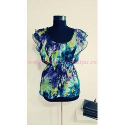 Bluza voal multicolora