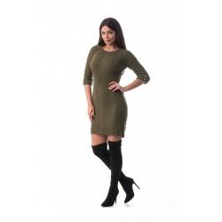 Rochie tricotata kaki