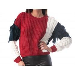 Pulover tricotat cu...