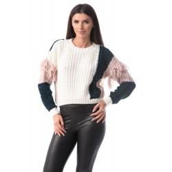 Pulover tricotat Clara White