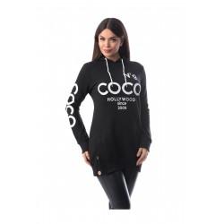 Hanorac negru Coco No9