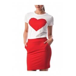 Compleu fusta si tricou Love