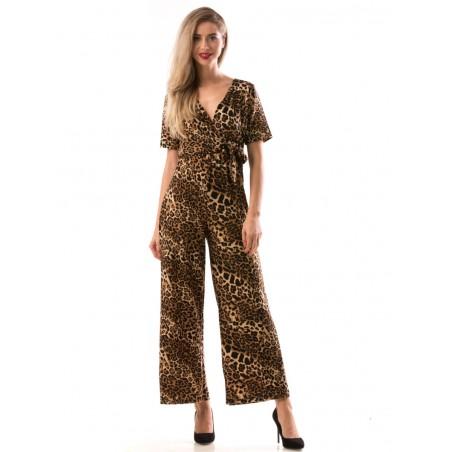 Salopeta lunga cu animal print (leopard)