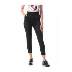 Pantaloni negri casual-office Chloe+curea cadou
