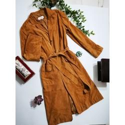 Palton trench Zara din piele naturala