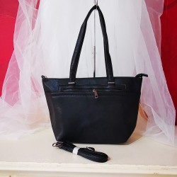 Geanta shopper Hart Brake,neagra, casual office, piele ecologica