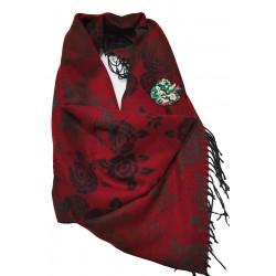 Sal casmir,fular lung,Red Roses,rosu grena