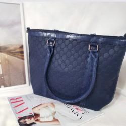 Geanta 3D Design,bleumarin,piele ecologica, shopper