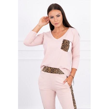 Trening Kessy de dama, bumbac,roz, animal print