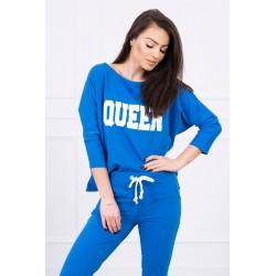 Trening dama Queen, albastru, bumbac