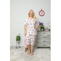 Pijama 100% bumbac de vara