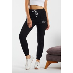 Pantaloni trening toamna-iarna, bumbac,negri