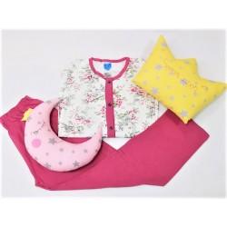 Pijama dama,100% bumbac, marimi mari, bluza cu nasturi