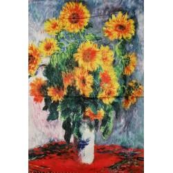 Esarfa casmir cu print floral, floarea soarelui