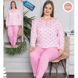 Pijama roz dama, bumbac,...