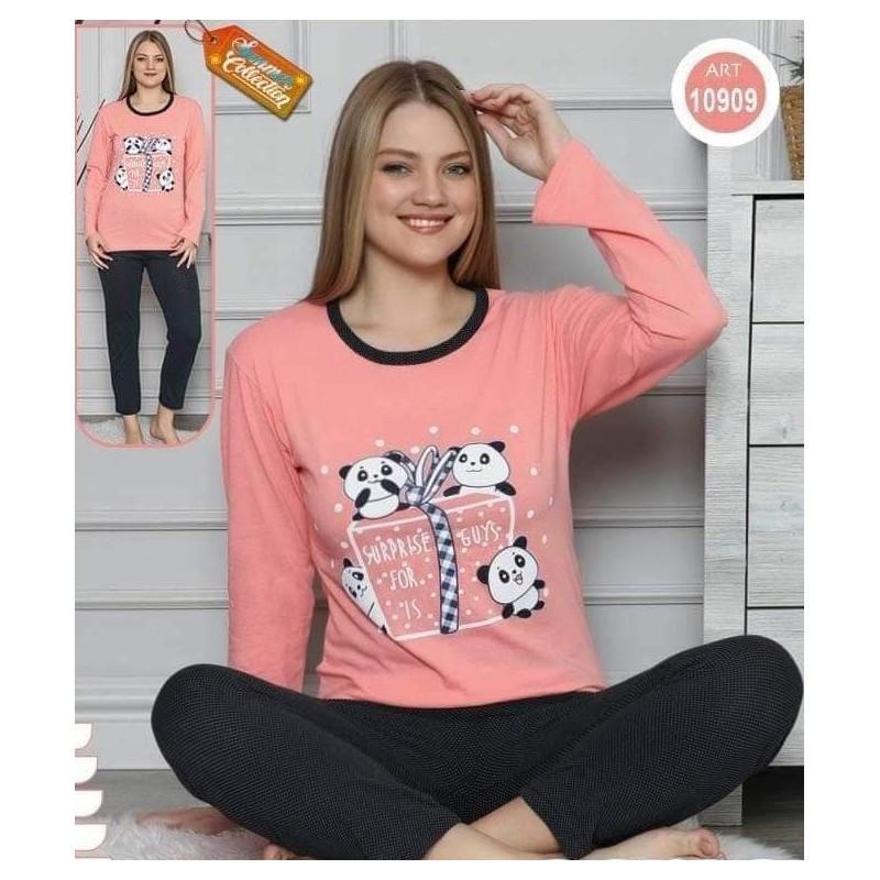 Pijama dama, bumbac, model cu ursuleti