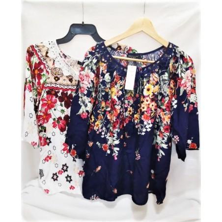 Bluza cu imprimeu floral tip ie