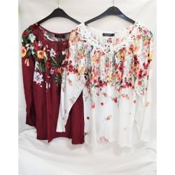 Bluza cu imprimeu floral...