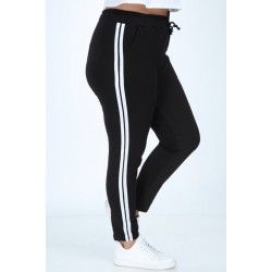 Pantaloni vatuiti cu 2 dungi laterale marimi mari