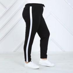 Pantaloni vatuiti cu dunga laterala marimi mari